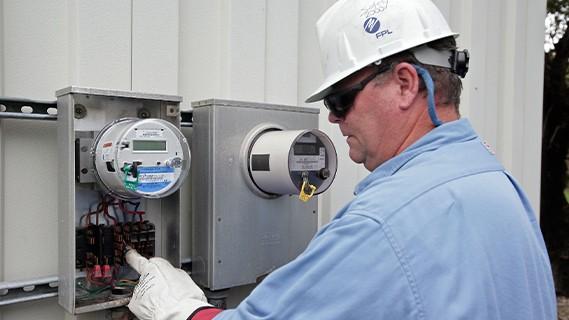 fpl worker installing a meter