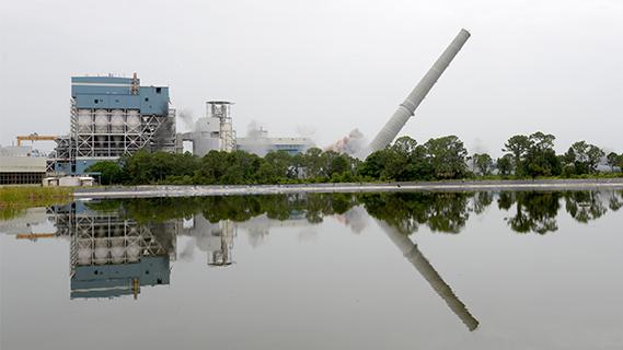 falling coal tower