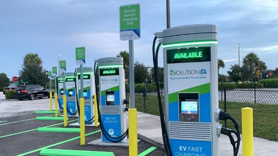 Evolution fast charging stations