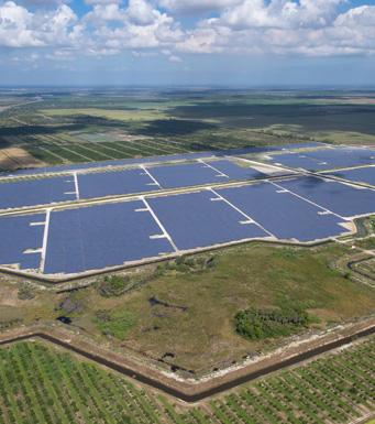 Aerial view of Hammock Solar Energy Center