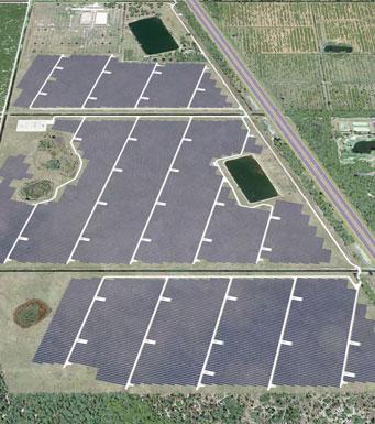 representación artística del Centro Interestatal de Energía Solar de FPL
