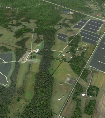 artistic rending of pioneer trail solar energy center in Volusia County