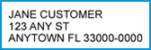 This part of the bill shows the mailing address we have on file for you.