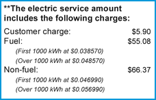 The Florida Public Service Commission regulates some items on your electric bill, including the customer charge.